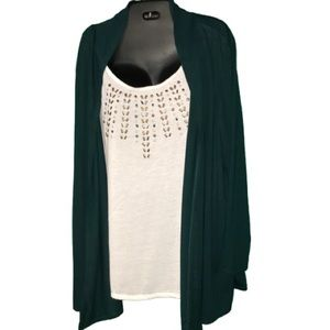 Forest green two-fer she'll top in plus size 3XL